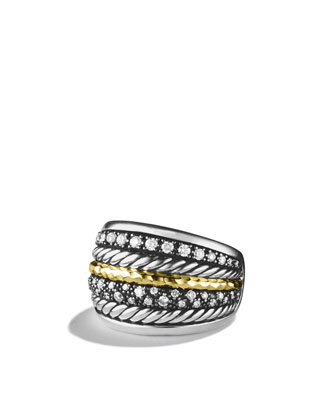 Midnight M??lange Ring with Diamonds