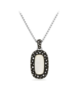 Midnight M??lange Pendant with Moon Quartz and Diamonds