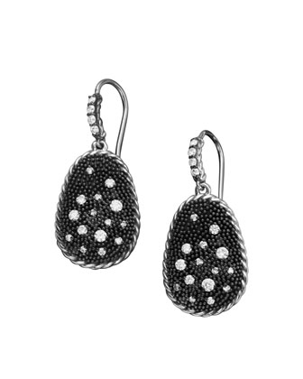 Midnight Melange Earrings, Pave Diamond