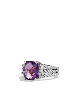David Yurman Petite Wheaton Ring, Amethyst