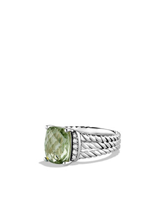 Petite Wheaton Ring with Prasiolite and Diamonds