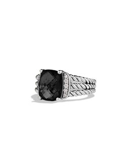 David Yurman Petite Wheaton Ring, Black Onyx