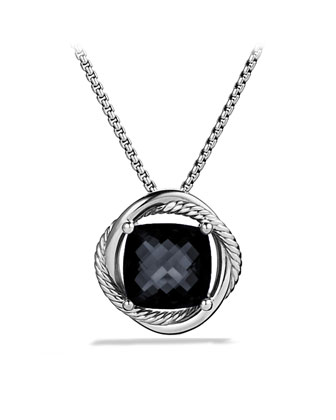 Infinity Medium Pendant with Black Onyx on Chain