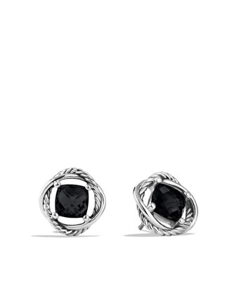 Infinity Earrings with Black Onyx