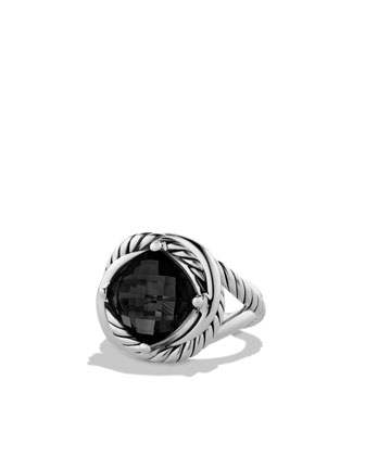 Infinity Ring with Black Onyx
