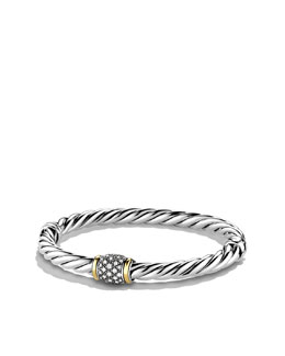 David Yurman Metro Bracelet, Pave Diamonds, 6mm