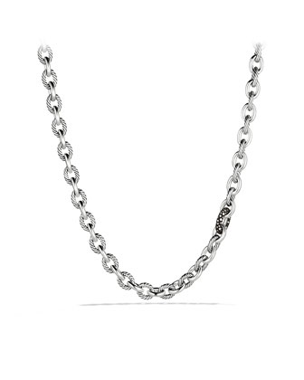 Oval Link Necklace with Diamonds