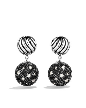 DY Elements Double-Drop Earrings with Diamonds