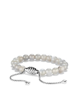 David Yurman Spiritual Bead Bracelet, Gray Moonstone