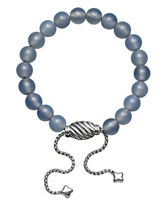 Spiritual Bead Bracelet, Blue Chalcedony