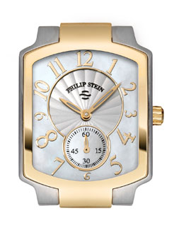 Philip Stein Small Classic Two-Tone Gold Watch Head