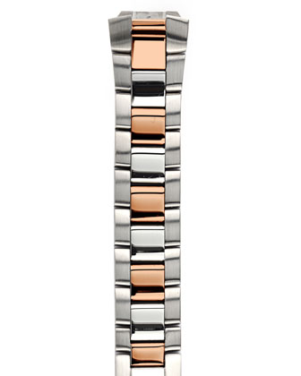 Small Signature Stainless/Rose Two-Tone Watch Head & 18mm Bracelet