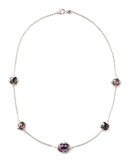 Judith Ripka Corundum Doublet-Station Necklace