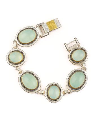Chalcedony Gauntlet Bracelet