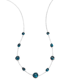 Ippolita London Blue Topaz Station Necklace
