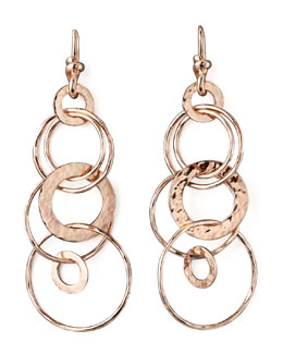 Ippolita Rose Gold Multi-Link Jet-Set Earrings, Mini