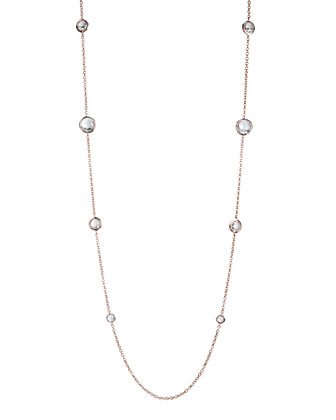 Rose & Quartz Station Necklace, 37