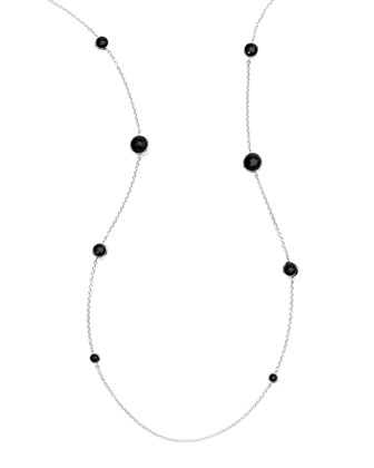 Lollipop Onyx Station Necklace
