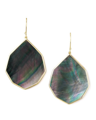 Angled Teardrop Earring, Shell