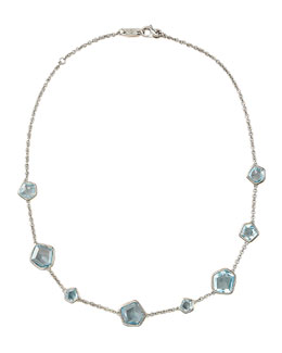 Ippolita Blue Topaz-Station Necklace