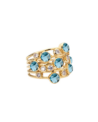 Topaz & Diamond Constellation Ring