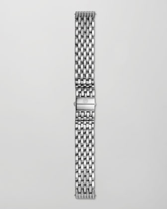 Deco Diamond Dial Two-Tone Watch Head & Taper 7-Link Bracelet Strap