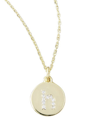 Diamond-Initial Gold Necklaces