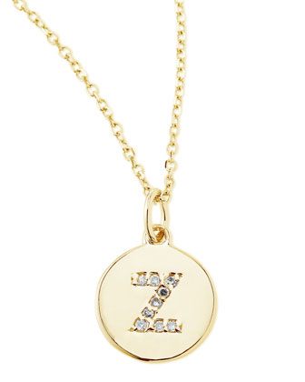 Diamond-Initial Necklace, Z