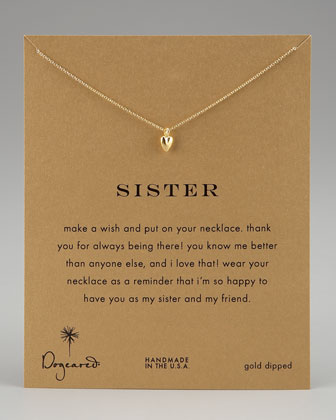 Sisters Heart Pendant Necklace