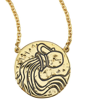 Astrology Necklace, Aquarius