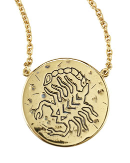 Amy Zerner Astrology Necklace, Scorpio