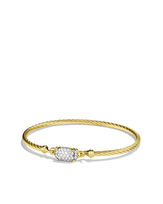 Petite Wheaton Bracelet with Diamonds in Gold