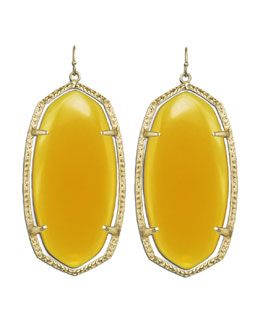 Kendra Scott Danielle Earrings, Yellow Onyx