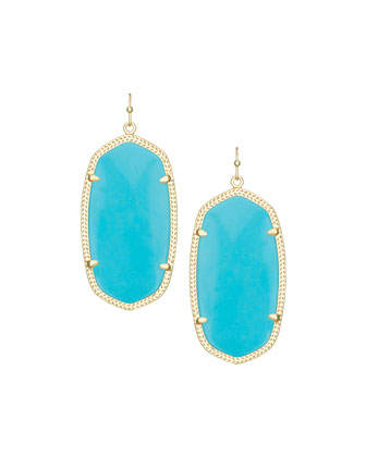 Danielle Earrings, Turquoise