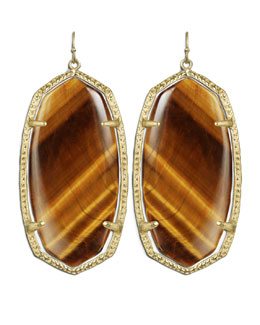Kendra Scott Danielle Earrings, Tiger's Eye