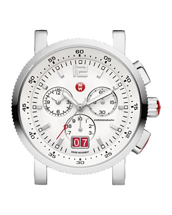 Large Sport Sail Stainless Steel Watch, White
