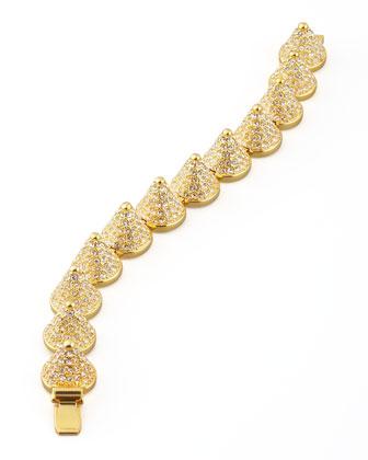 Pave Cone Bracelet, Golden