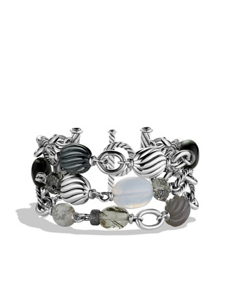 DY Elements Three-Row Bracelet with Black Onyx and Hematine