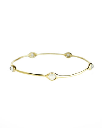Rock Candy Bangle, Clear Quartz