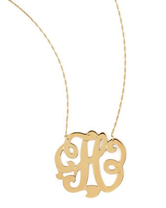 Swirly Initial Necklace