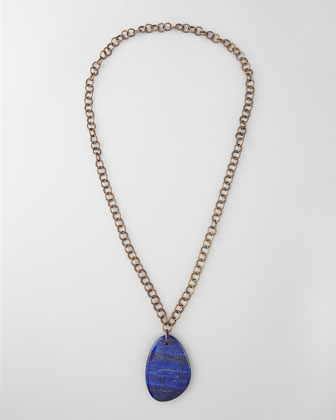 Lapis Pendant Necklace, 34