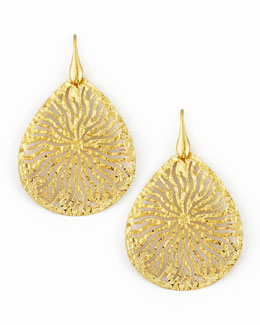 Nest Teardrop Earrings, Gold
