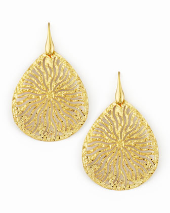 Teardrop Earrings, Gold