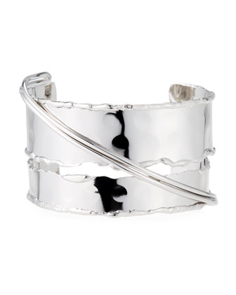 Crossover Cuff, Rhodium