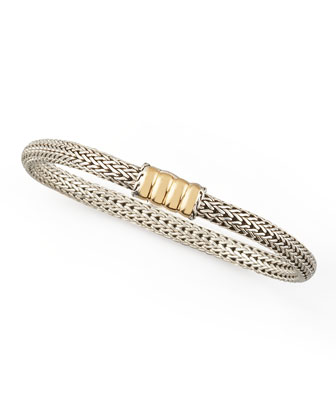 Bedeg Gold-Station Bracelet, Extra Small
