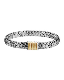 John Hardy Bedeg Gold-Station Bracelet, Medium