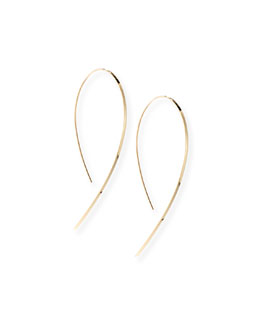 Lana Small Flat Hook-On Hoop Earrings