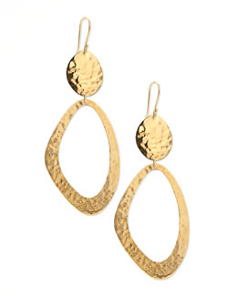 Ippolita Hammered Gold Snowman Earrings