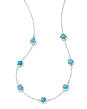 Turquoise Station Necklace, 18
