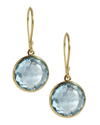 Mini Lollipop Earrings, Blue Topaz